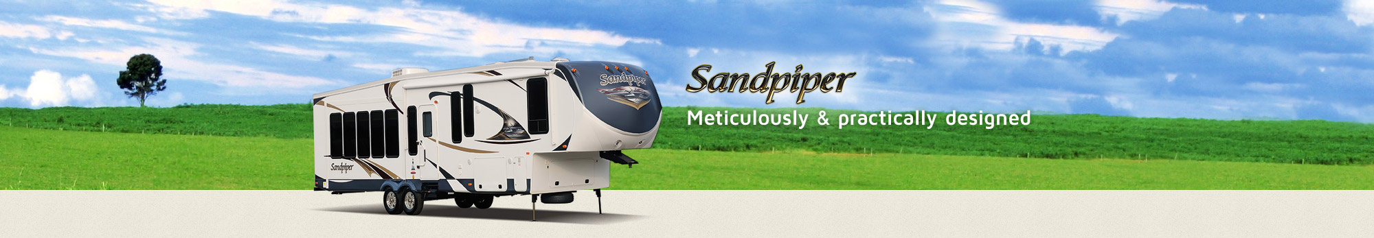 Check our meticulously designed Sandpiper RV by Forest River
